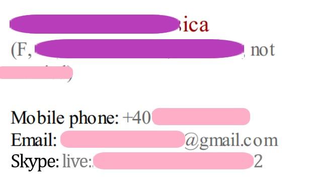 Skype ID in Resume